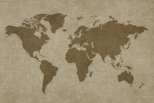 Usa Map Photograph - World Map And Compass by Dem10