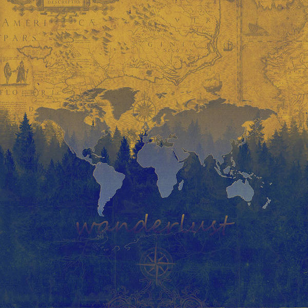 Earth Day Digital Art - World Map Forest 3 by Bekim M
