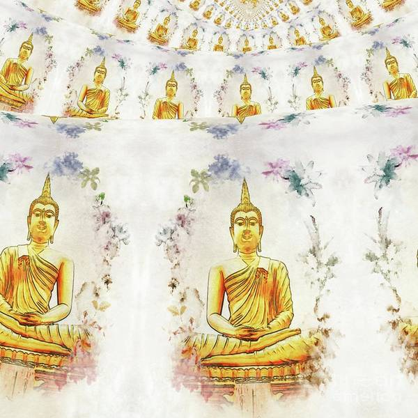 Esoteric Painting - World Of The Buddha by Raphael Terra