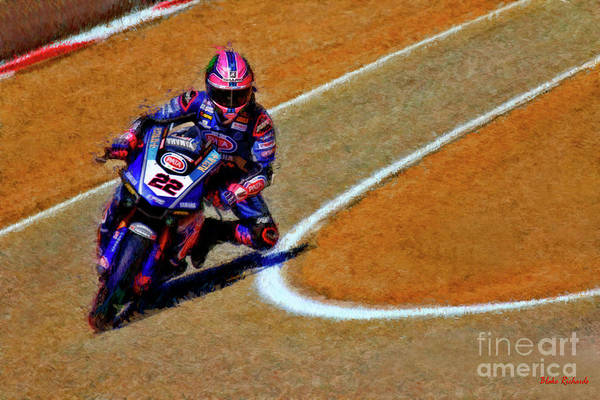 Photograph - World Superbike Alex Lowes 2019 Yamaha Yzf R1 by Blake Richards