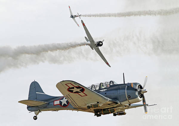 Photograph - World War II Aerial Dogfight by Kevin McCarthy