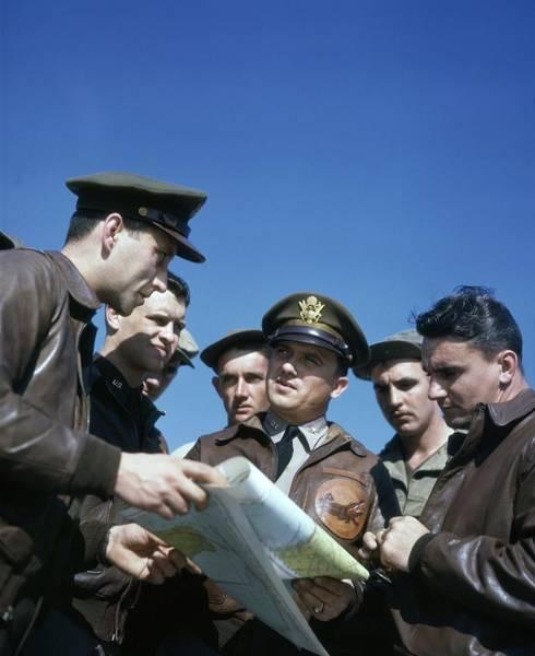 Usa Map Photograph - World War II Air Base by Michael Ochs Archives