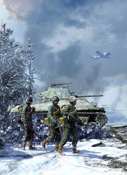 Wall Art - Photograph - World War II Concept Of A U.s. Sherman by Kurt Miller