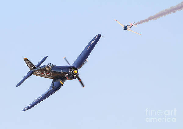 Photograph - World War II Dogfight by Kevin McCarthy