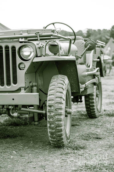 Photograph - World War II Era Us Army Jeep by Edward Fielding