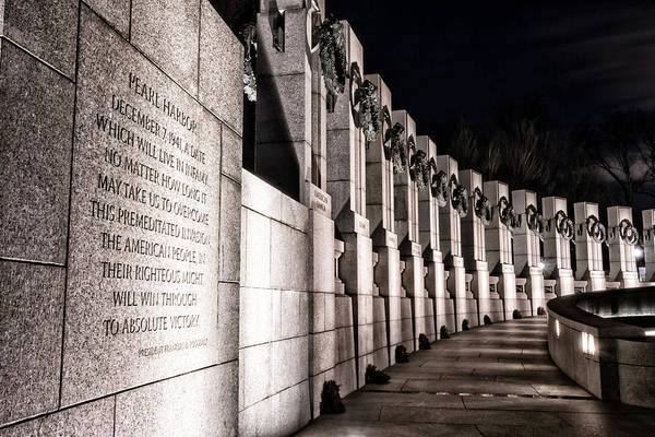 Photograph - World War II Memorial by Travis Rogers