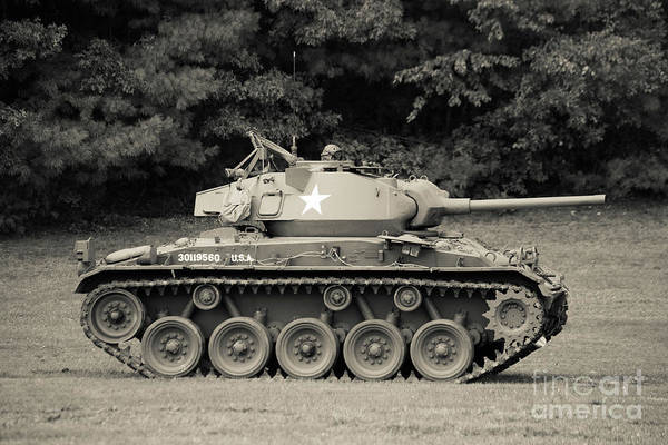 Photograph - World War II Tank by Edward Fielding
