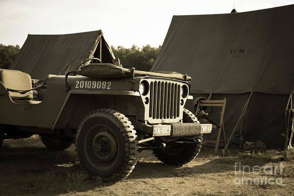 Photograph - World War II Us Army Camp by Edward Fielding