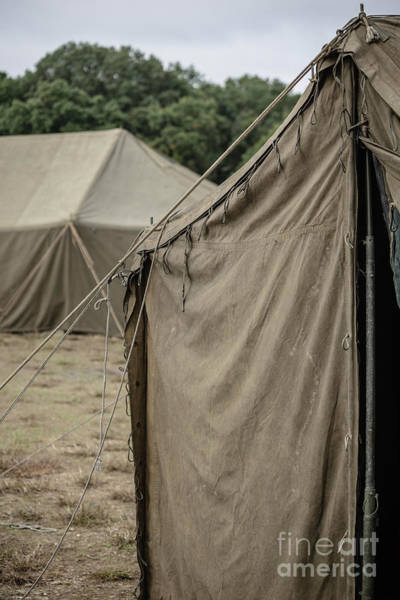 Wall Art - Photograph - World War II Us Army Tents by Edward Fielding