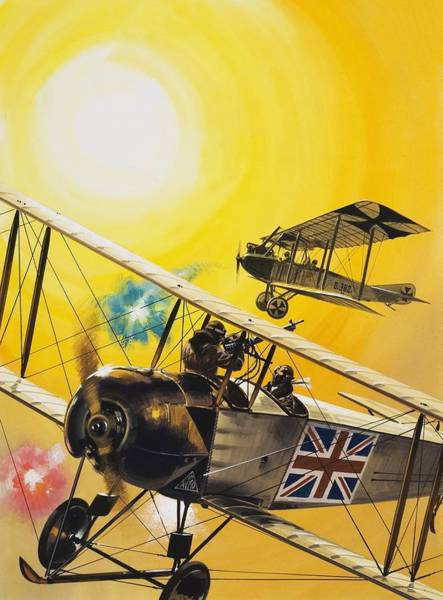 Daring Painting - World War One Battle In The Skies by English School
