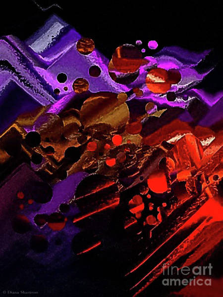 Digital Art - Worlds Collide by Diana Mary Sharpton
