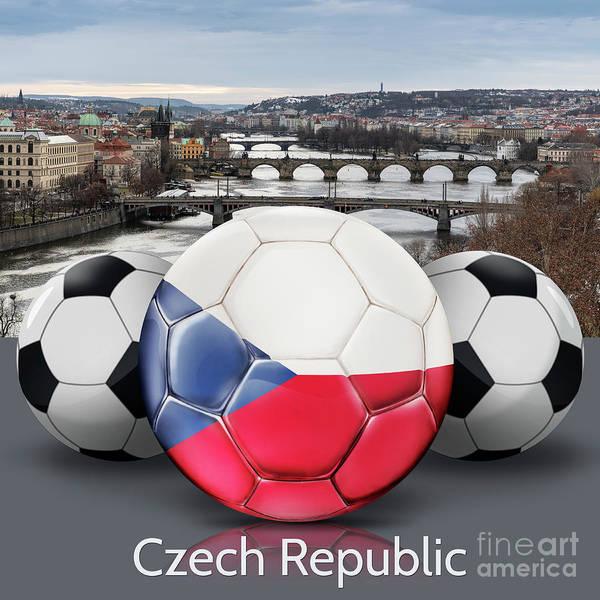 Czech Digital Art - World's Soccer Balls Czech Republic by Peter Awax