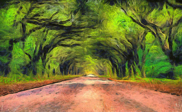 Wall Art - Painting - Wormsloe Oak Avenue  by Dan Sproul