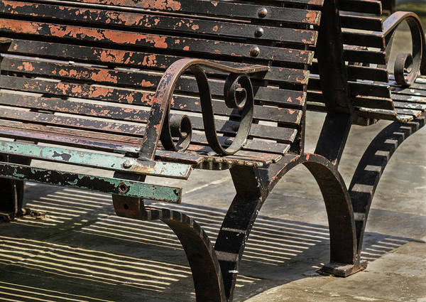 Photograph - Worn Benches by Jean Noren
