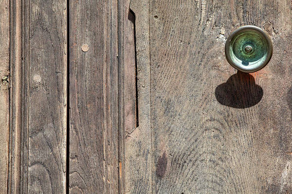 Photograph - Worn Brass Door Handle Of Tuscany by David Letts