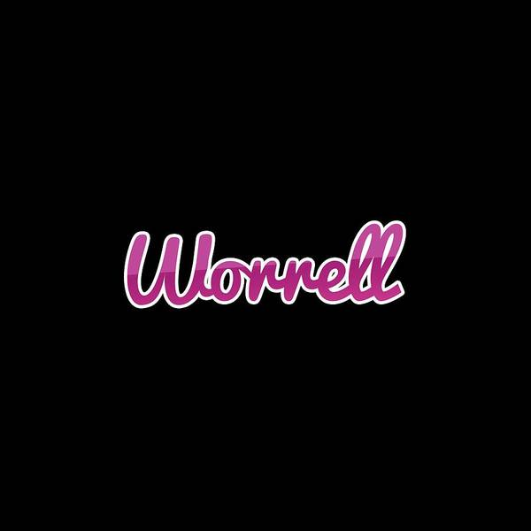 Wall Art - Digital Art - Worrell #worrell by TintoDesigns
