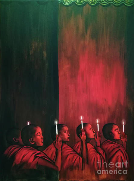 Painting - Worship Light by Fei A
