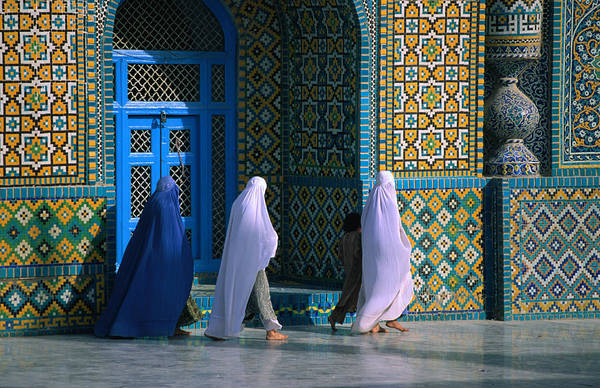 Wall Art - Photograph - Worshippers Visiting Shrine Of Hazrat by Stephane Victor