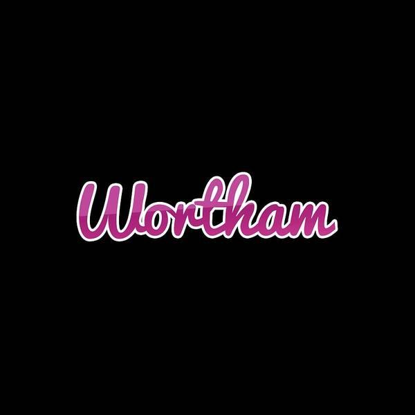 Digital Art - Wortham #wortham by Tinto Designs