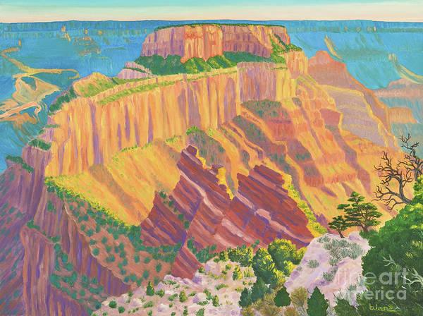 Wotan's Throne Ablaze - Grand Canyon Art Print