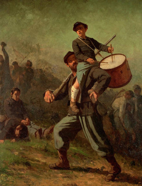 Wall Art - Painting - Wounded Drummer Boy, 1869 by Jonathan Eastman Johnson