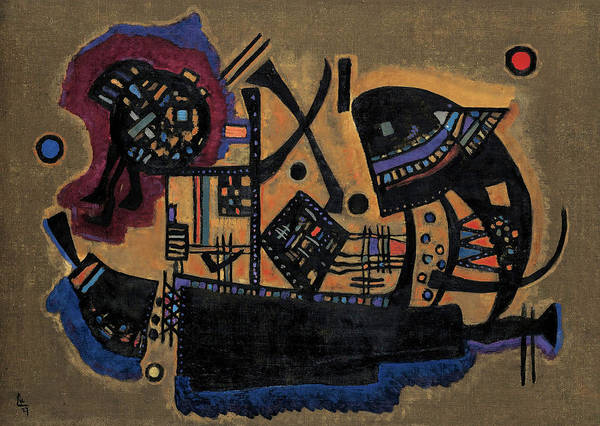 Wall Art - Painting - Woven, 1927 by Wassily Kandinsky