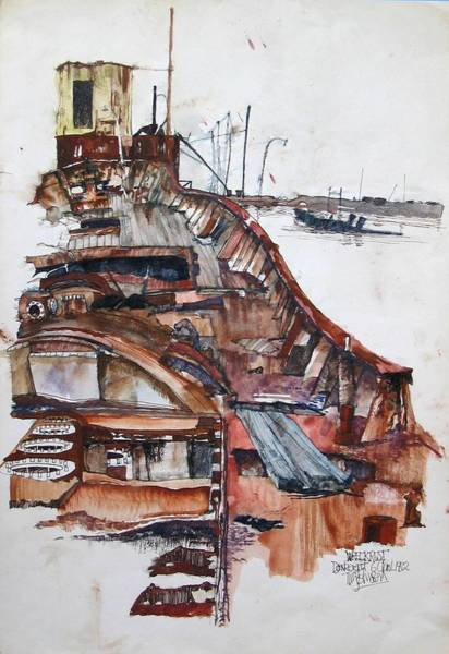 Painting - Wreckrust by Tim Johnson