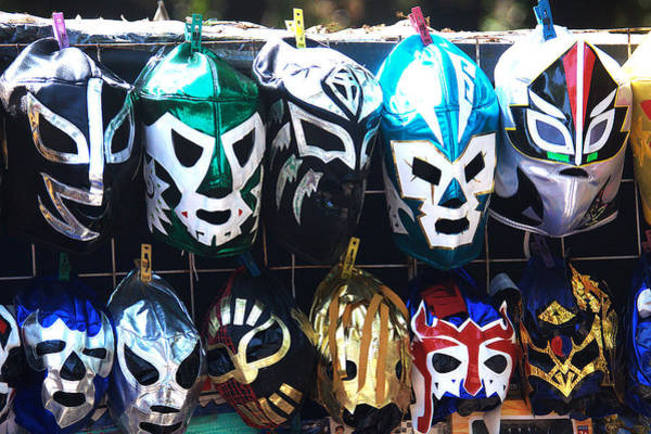 Photograph - Wrestler Masks by David Resnikoff