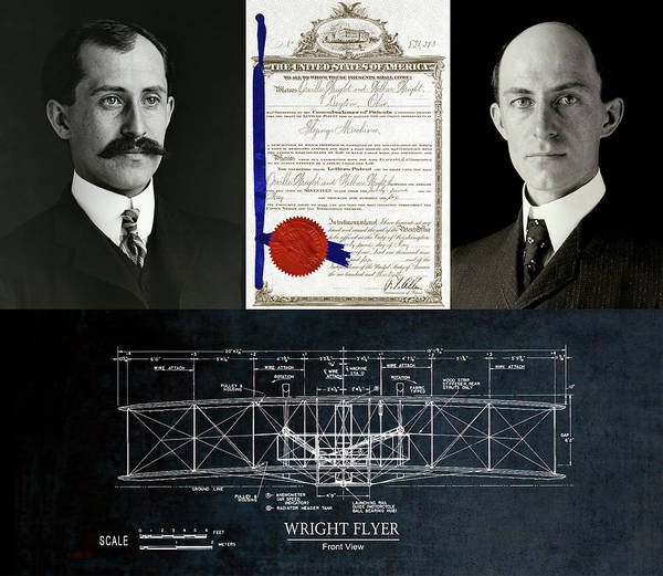 Wall Art - Photograph - Wright Bros Tribute Panel by Daniel Hagerman