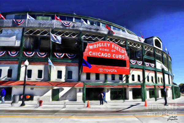 Painting - Wrigley Field  by CAC Graphics