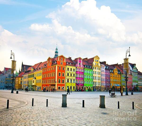 Wall Art - Photograph - Wroclaw City Center, Market Square by Pablo77