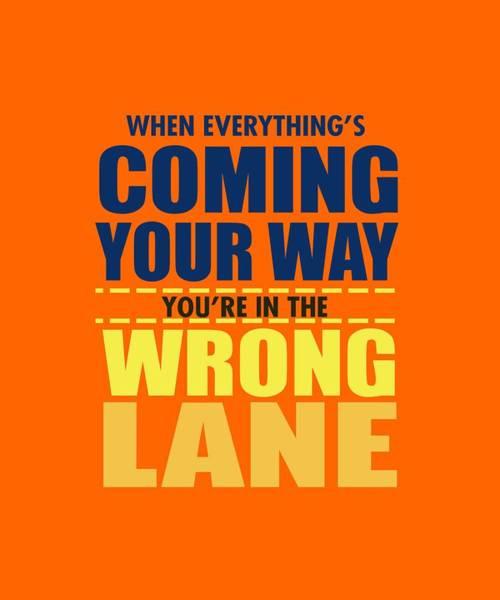 Wrong Lane Art Print