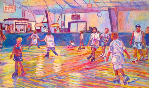 Painting - Wrong Way At Dominion Skating Rink by Kendall Kessler