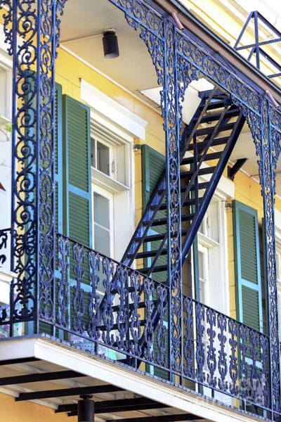 Photograph - Wrought Iron Balcony New Orleans by John Rizzuto