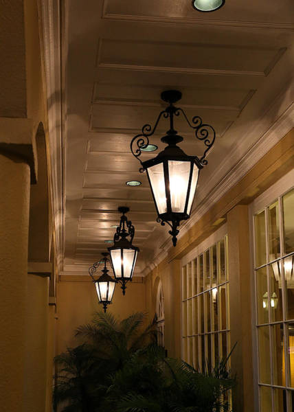 Photograph - Wrought Iron Hanging Lamps by Debi Dalio