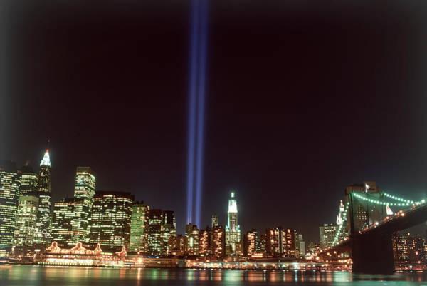 September 11 Attacks Photograph - Wtc Memorial Lights, New York City by Rudi Von Briel