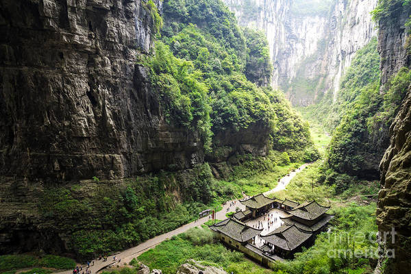 Wide Wall Art - Photograph - Wulong National Park, Chongqing, China by Whyframe