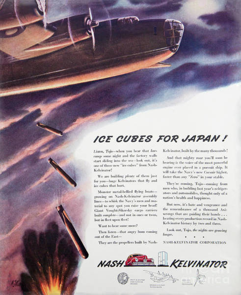 Photograph - Wwii Aircraft Advertising 2 by Kevin McCarthy