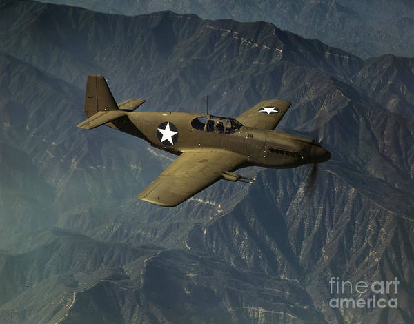 Photograph - Wwii Mustang, 1942 by Alfred Palmer