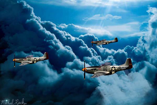 Wall Art - Digital Art - Mustang Fighter Aces by Michael Rucker