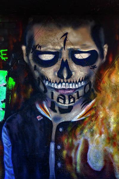 Photograph - Wynwood Mural Diablo Series 2494 by Carlos Diaz