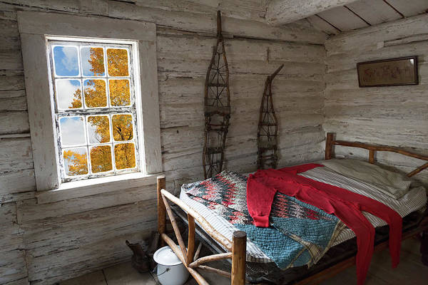 Wall Art - Photograph - Wyoming Bunk With Red Wool Long Johns by Kathleen Bishop