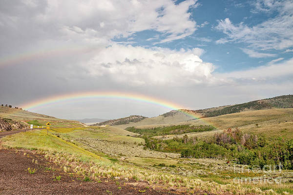 Photograph - Wyoming Double Rainbow by Sue Smith