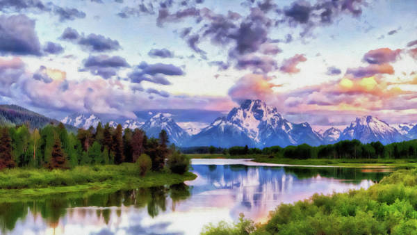 Painting - Wyoming, Grand Teton National Park - 01  by Andrea Mazzocchetti
