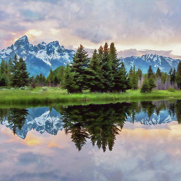 Painting - Wyoming, Grand Teton National Park - 02 by Andrea Mazzocchetti