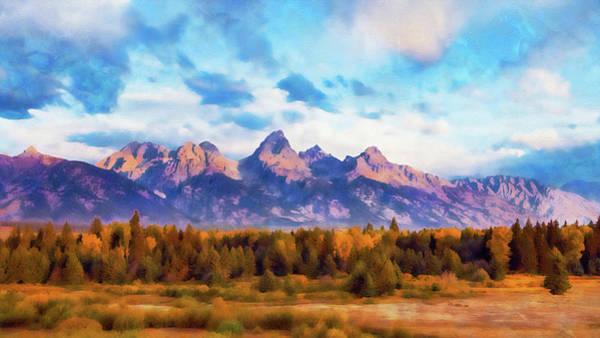 Painting - Wyoming, Grand Teton National Park - 03 by Andrea Mazzocchetti