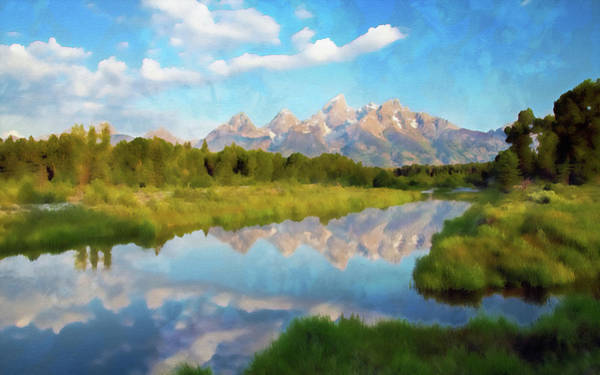 Painting - Wyoming, Grand Teton National Park - 04 by Andrea Mazzocchetti