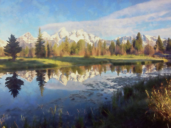 Painting - Wyoming, Grand Teton National Park - 06 by Andrea Mazzocchetti