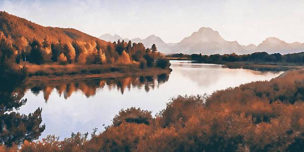 Painting - Wyoming, Grand Teton National Park - 07 by Andrea Mazzocchetti