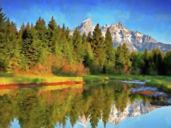 Painting - Wyoming, Grand Teton National Park - 08 by Andrea Mazzocchetti